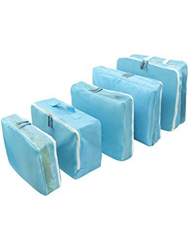 Easy Travel Quintuple Travel Luggage Packing Organizer Bag Set (5 Pcs) $26.45