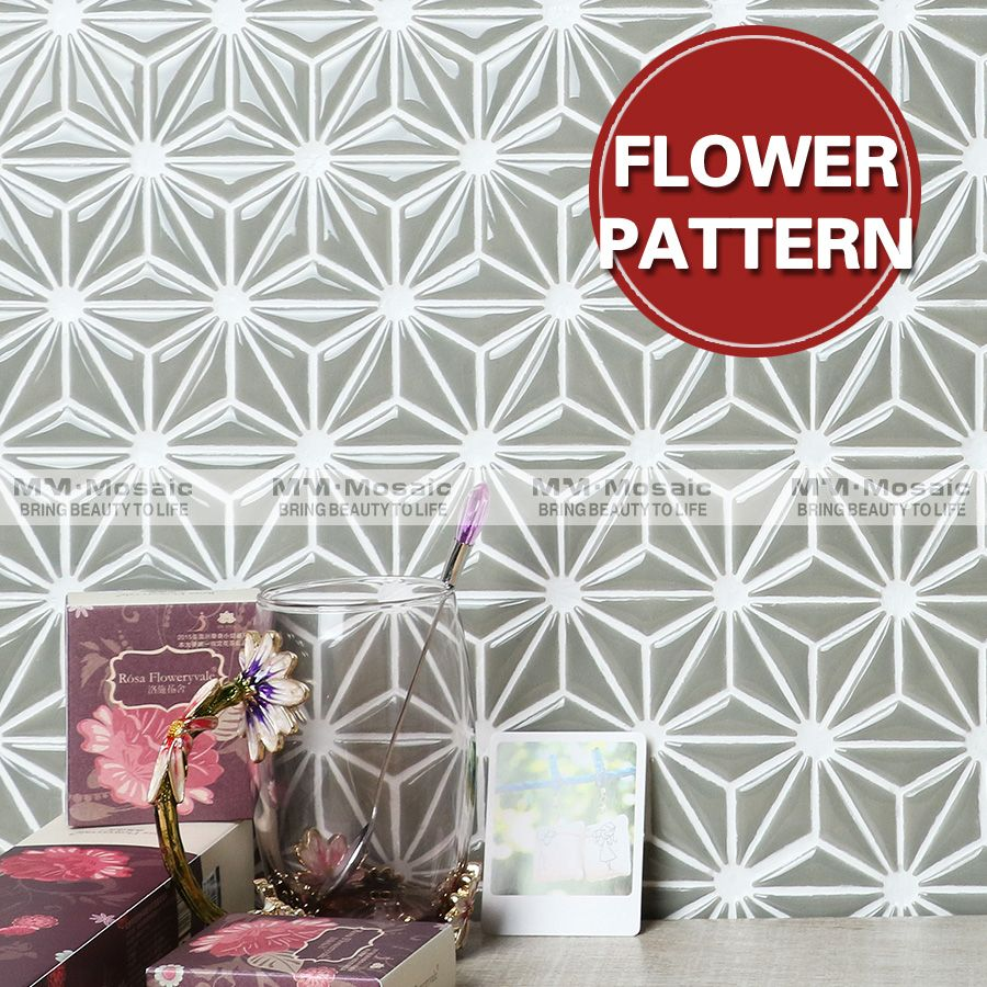 wholesale 2017 new kitchen wall tile design flower pattern
