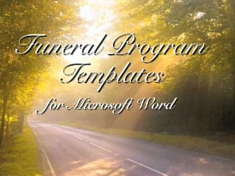 1000 images about funerals – Download Funeral Program Template