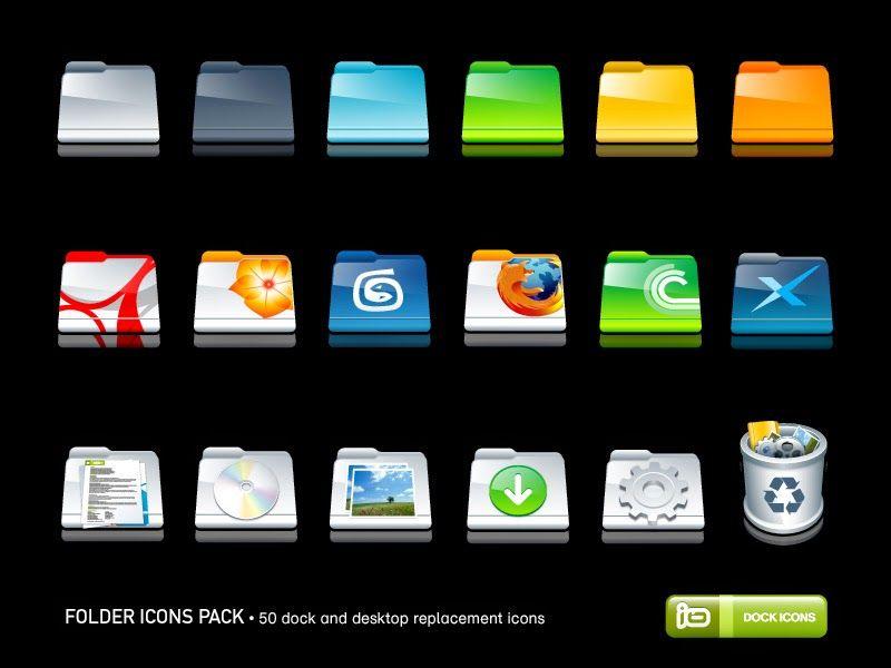 Cleodesktop Mod Desktop Cartoon Folder Icons Pack Folder Icon Desktop Icons Icon Pack
