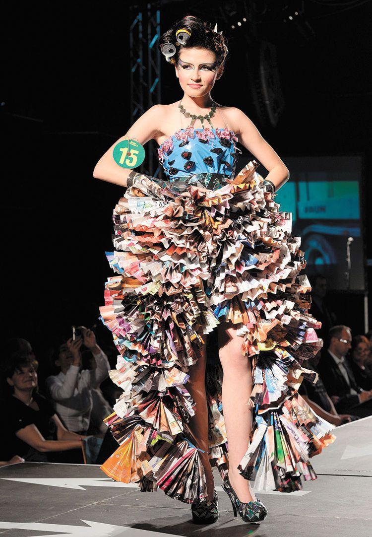 Como hacer vestidos de noche reciclados