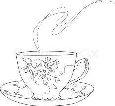 Afbeeldingsresultaat voor teacup drawing | pinterest bel | Pinterest