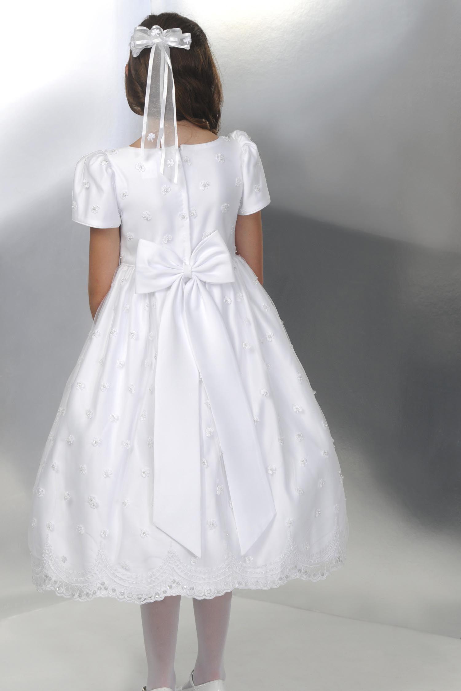Image detail for communion dress d4199 irish shamrock