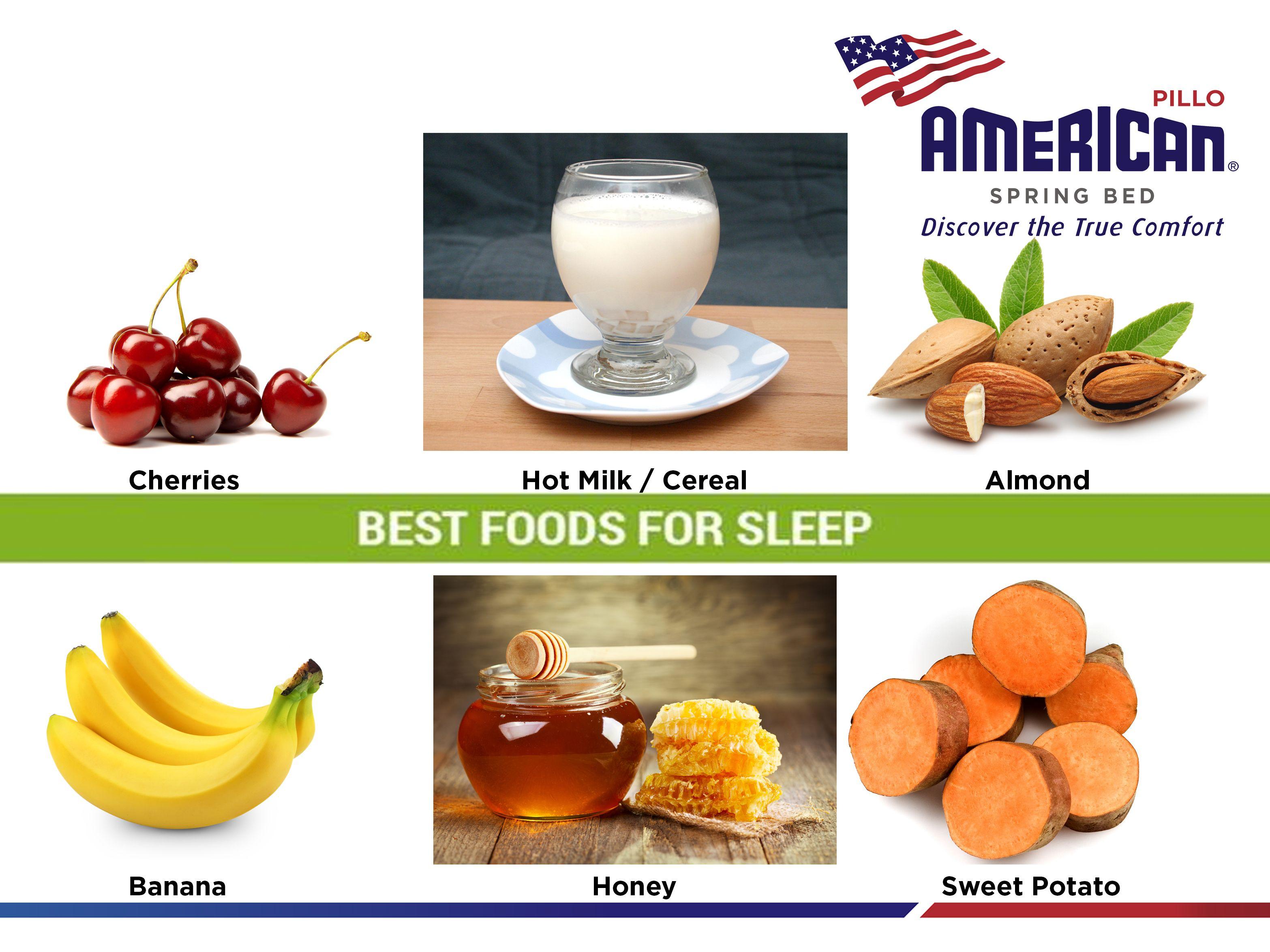 Konsumsi makanan yang ideal sebelum tidur adalah sekitar