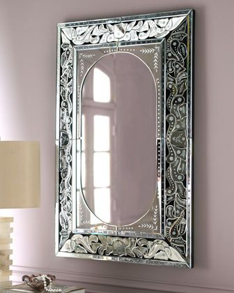 Etched Venetian Style Mirror At Horchow.