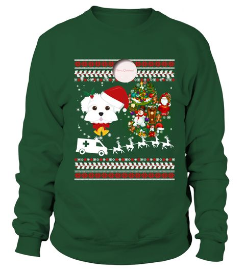 # Maltese Ugly Christmas Sweatshirt .  HOW TO ORDER:1. Select the style and color you want: 2. Click Reserve it now3. Select size and quantity4. Enter shipping and billing information5. Done! Simple as that!TIPS: Buy 2 or more to save shipping cost!This is printable if you purchase only one piece. so dont worry, you will get yours.Guaranteed safe and secure checkout via:Paypal | VISA | MASTERCARD