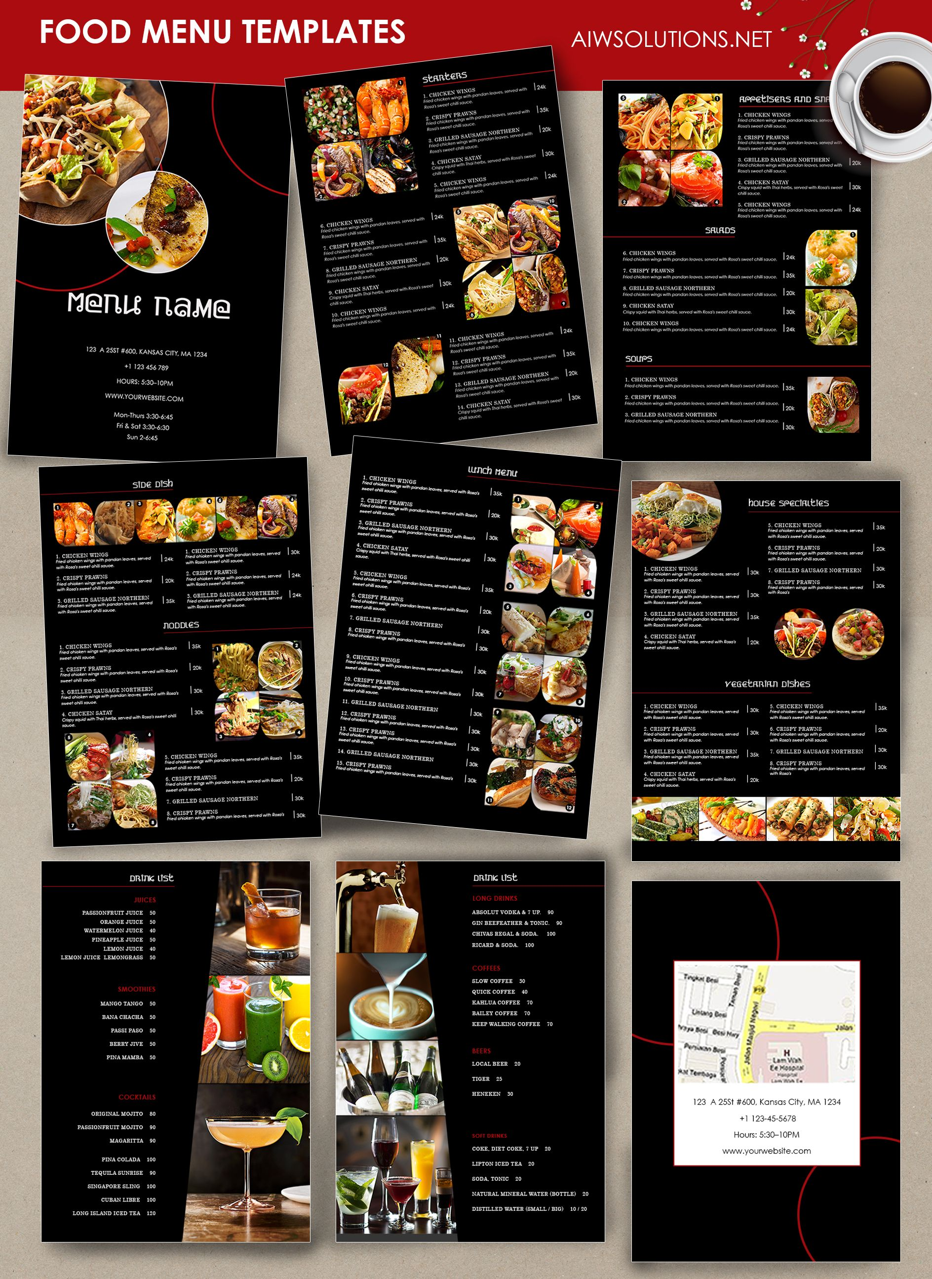 Food Menu  Id  Fine Dining Menu Thai Menu And Italian Menu