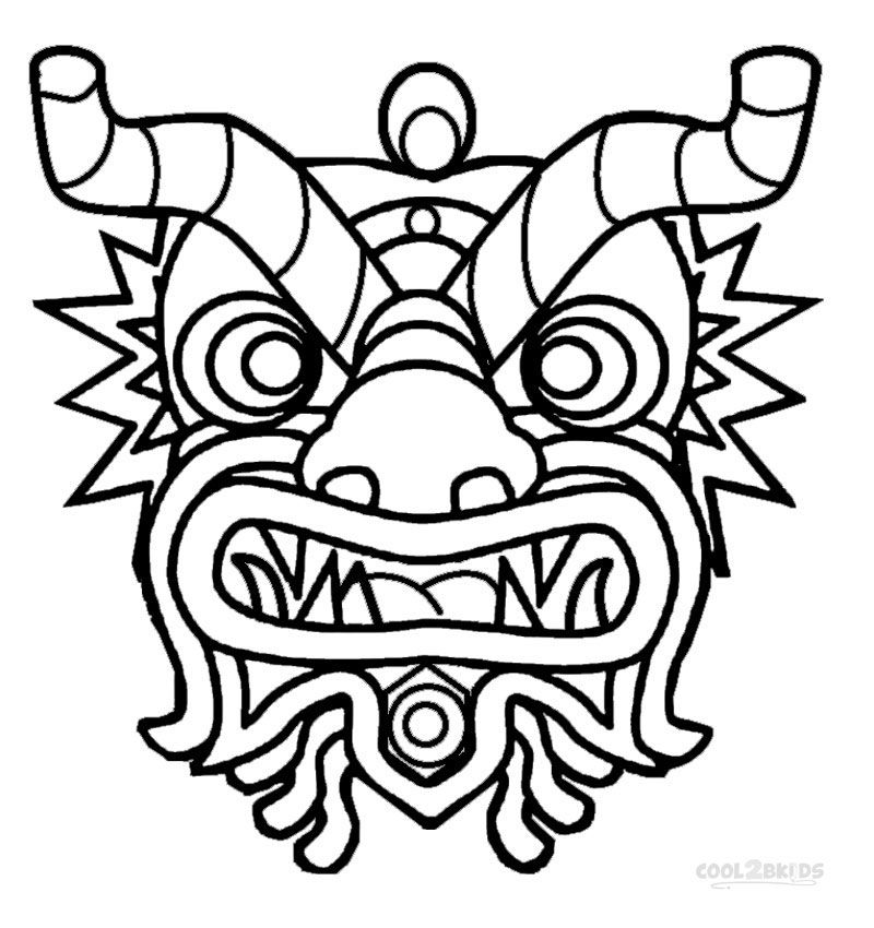 Chinese New Year Coloring Pages Chinese New Year Dragon