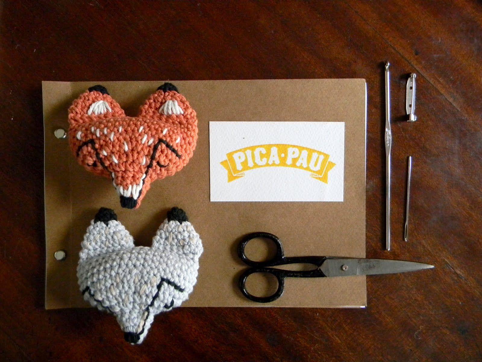 pica-pau: pin pattern fox / fox pin pattern | Yarn | Pinterest ...