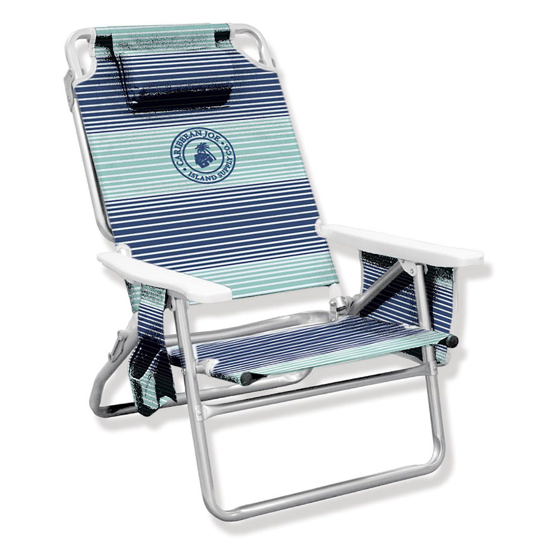 Low Folding Beach Chair Caribbean Joe 5 Position Folding Low Beach Chair Cj 7750hs