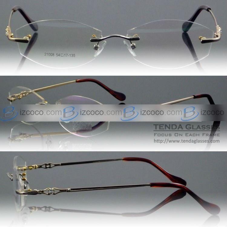 Popular Glass Frames for Women | Popular Designer Naturally Rimless ...