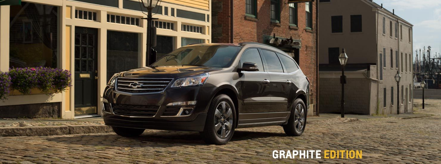 2017 Chevrolet Traverse Graphite Edition At Cadillac Of Santa Fe Www Chevroletofsantafe Com Mid Size Suv Suv Chevrolet Traverse