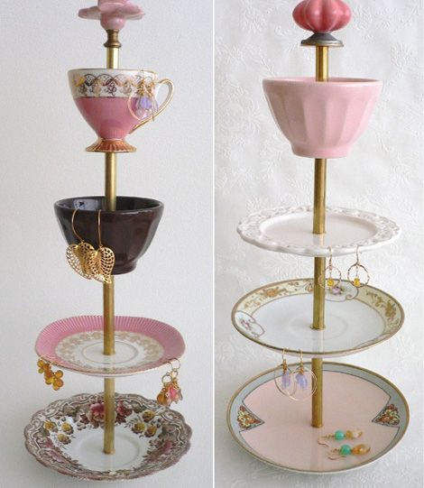 Antique Jewelry Stands With A