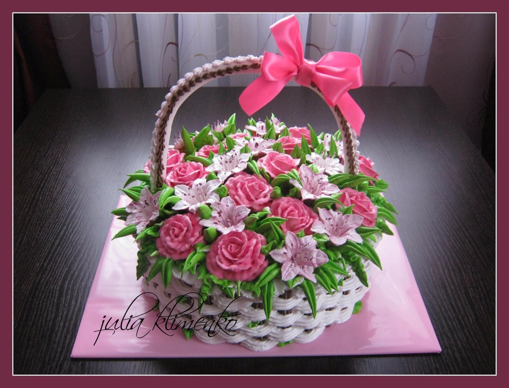 керн кремовый торт корзинка с цветами картинки порно мультики