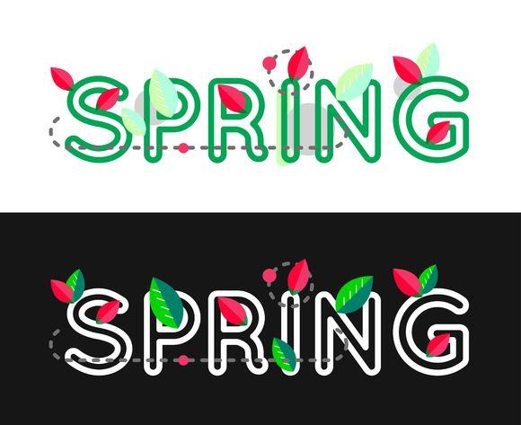 Spring lettering banner @creativework247