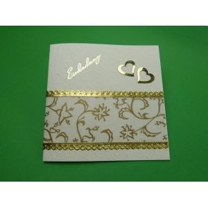 einladungskarte goldene hochzeit selber basteln mit sch nen bastelpapieren in gold pinterest. Black Bedroom Furniture Sets. Home Design Ideas