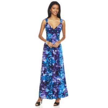 414a213d0f6 Chaps Tie-Dye Empire Maxi Dress - Women s
