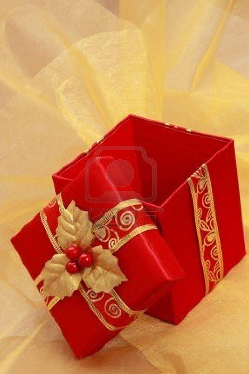 Red Gold Christmas Gift Box Christmas Gift Box Red Gold Christmas Gift Wrapping