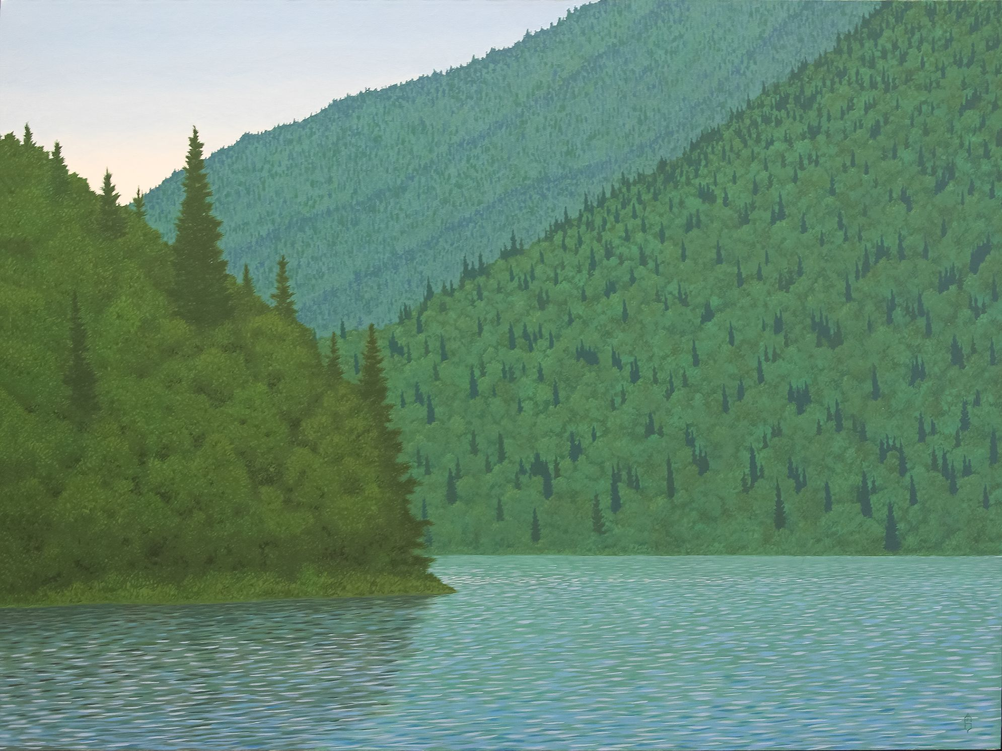 Mountain Lake - Oil on Canvas, 48 x 36 IN