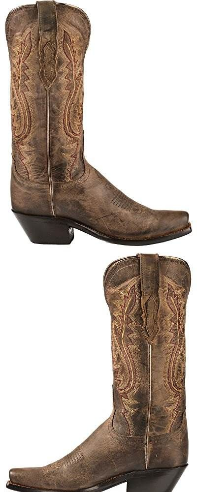 Lucchese Womens Handmade 1883 Cassidy Cowgirl Boot Narrow Square Toe Chocolate 8 - Love the boots, although they are difficult to get on and off until they are broken in. But, I fully expected this. I'm a 7B in all types of footwear. So, I believe these boots will be fine once I break them in. Once I have them on, they seem perfect. #SHOES