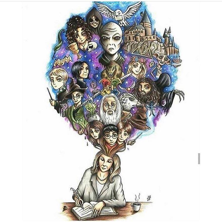 Mir Ist Aufgefallen Dass Die Beitrage Zur Drawthisinyourstylechallenge Hauptsachlich Portrats Harry Potter Artwork Harry Potter Drawings Rowling Harry Potter