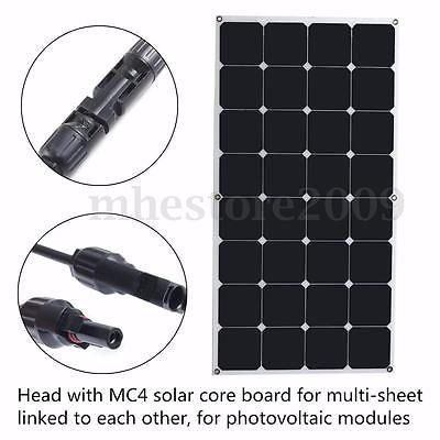 100W/200W/300W/400W/500W/1KW Semi Flexible Mono Solar Panel Battery Charger RV