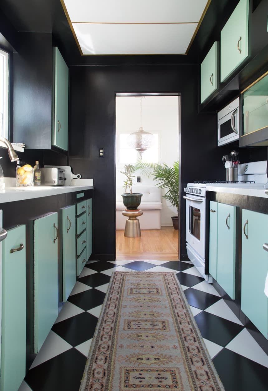 Hollywood Regency Style Kitchen