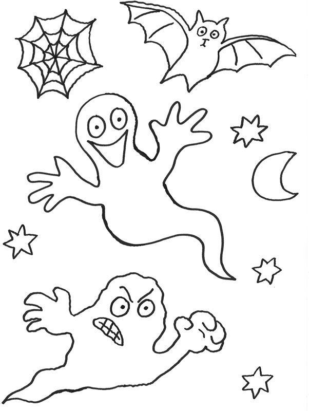 halloween ausmalbilder geister – Ausmalbilder für kinder | Halloween ...