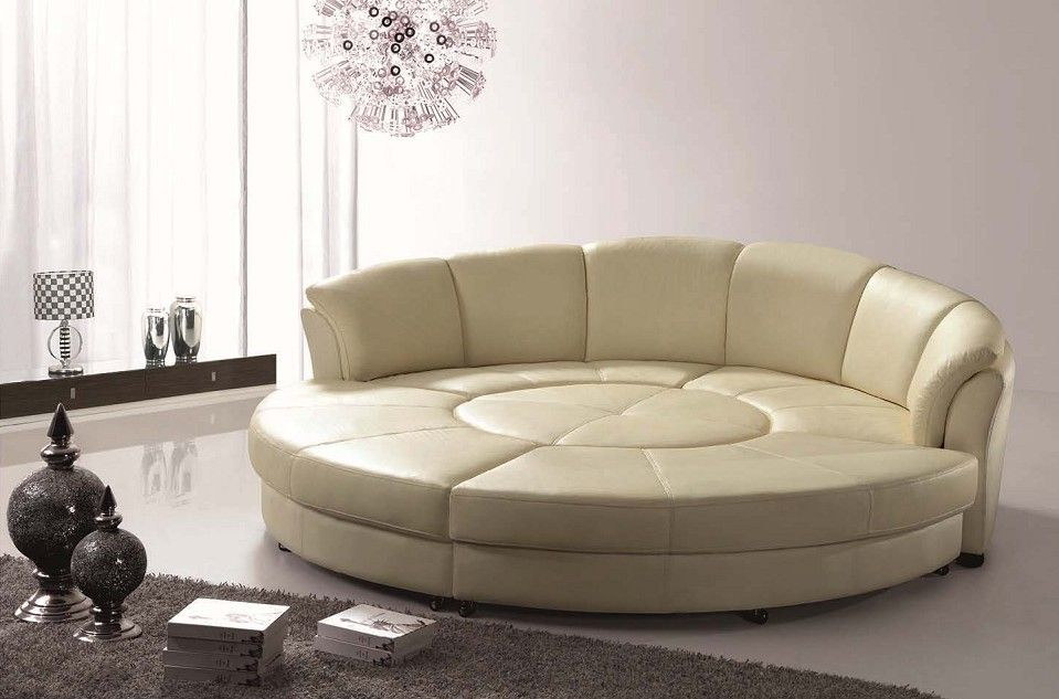 Extraordinary model of round leather couch | Leather sofa ...