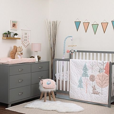 Carter S Woodland Meadow Crib Bedding Turns Your Little One Nursery Into A Whimsical Enchanted Forest Styled With Geometric Shapes To Form Clic