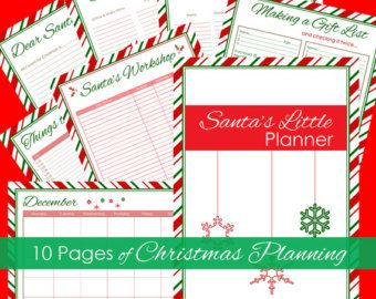Christmas Planner and Organizer Bundle by LiveCraftEatPrint ...