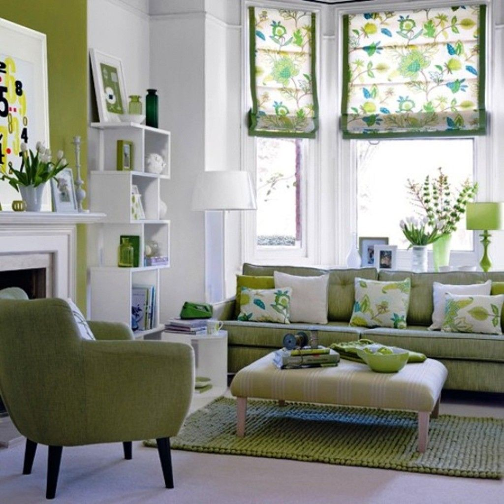 Awesome Green And White Living Room 1024x1024 Looks Calm