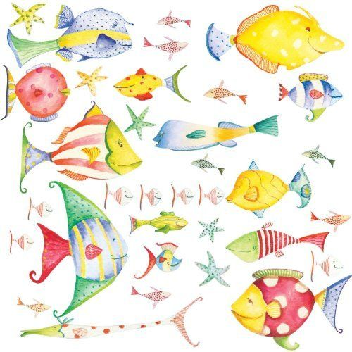 RoomMates Repositionable Childrens Wall Stickers Sea Creatures By RoomMates,  Http://www.