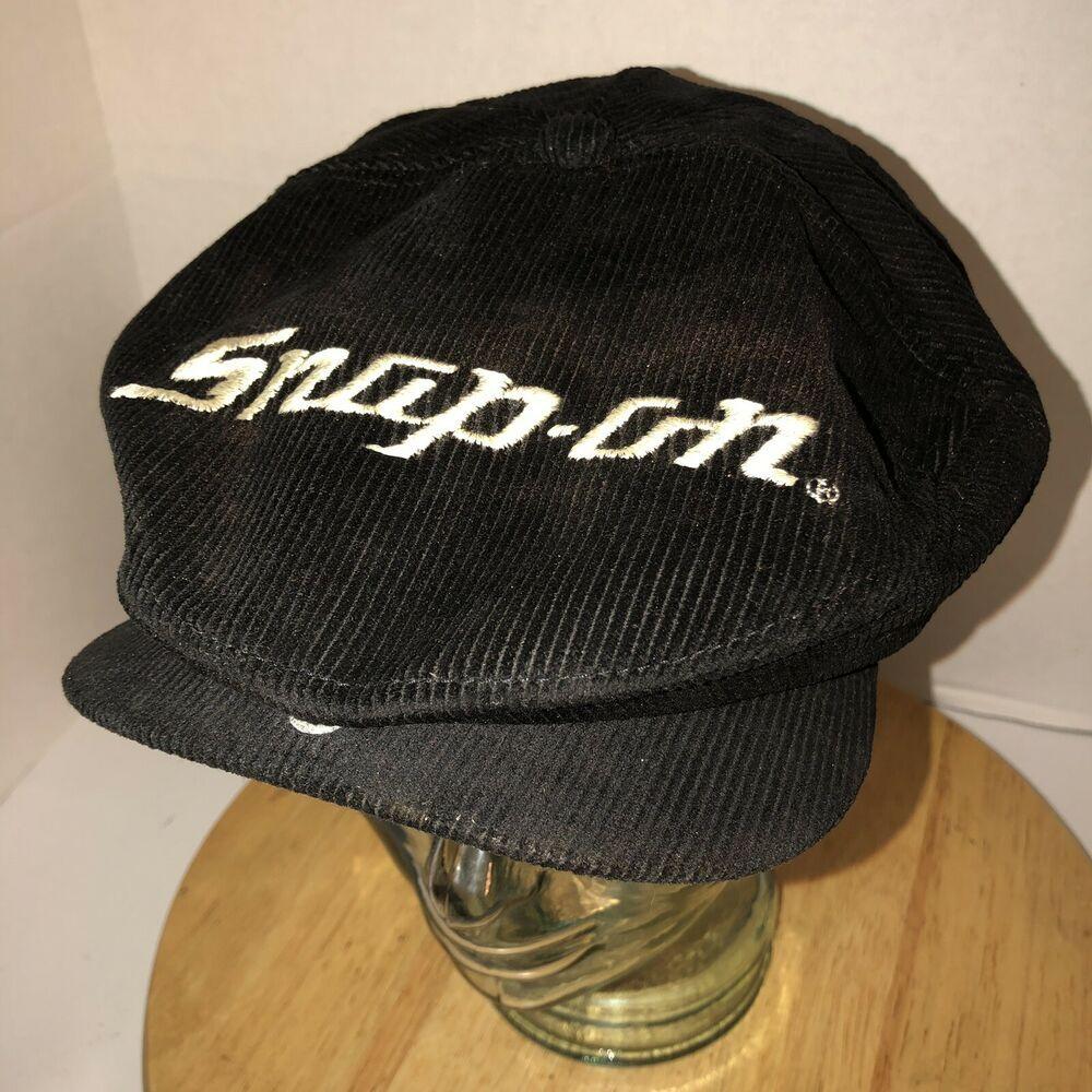 e1123bcb Vintage SNAP-ON 70s 80s USA K-BRAND Black Corduroy FLAT HAT CAP Snapback  RARE | eBay