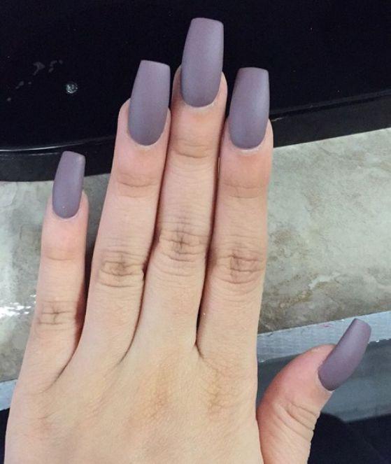 uñas acrilicas de un solo color | Nails | Pinterest | Color, Diseños ...