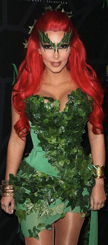 "favorite halloween costume of Kim Kardashian ""Poison Ivy"" #beauty #kimk #halloween"