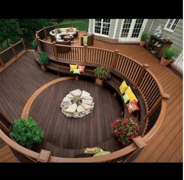 Terrassengestaltung In 2 Ebene Aus Holz | Ideen Für Haus Und