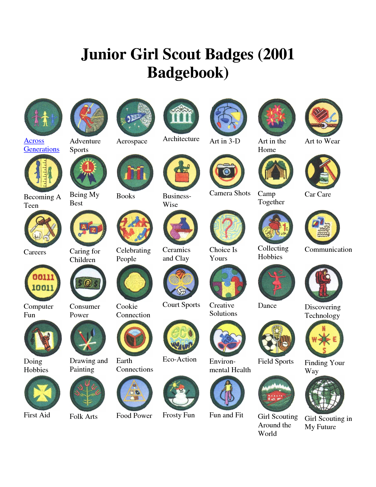 Girl Scout Junior Insignia and Earned Awards -