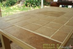make an outdoor tile top table for cheap i want this http www