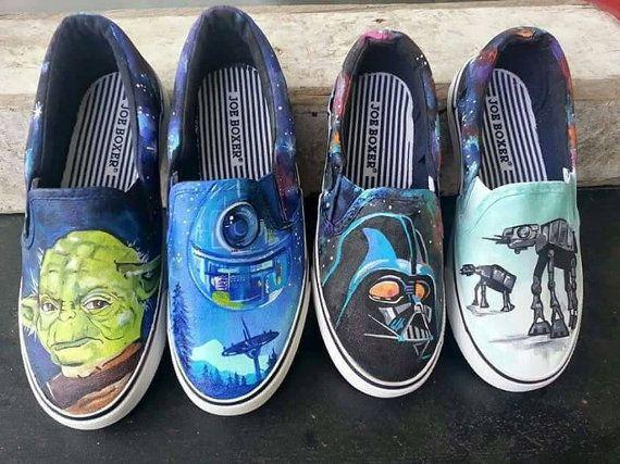 1bc435d4c41a6 Custom hand painted Star Wars shoes. Darth Vader. Yoda. Painted vans ...