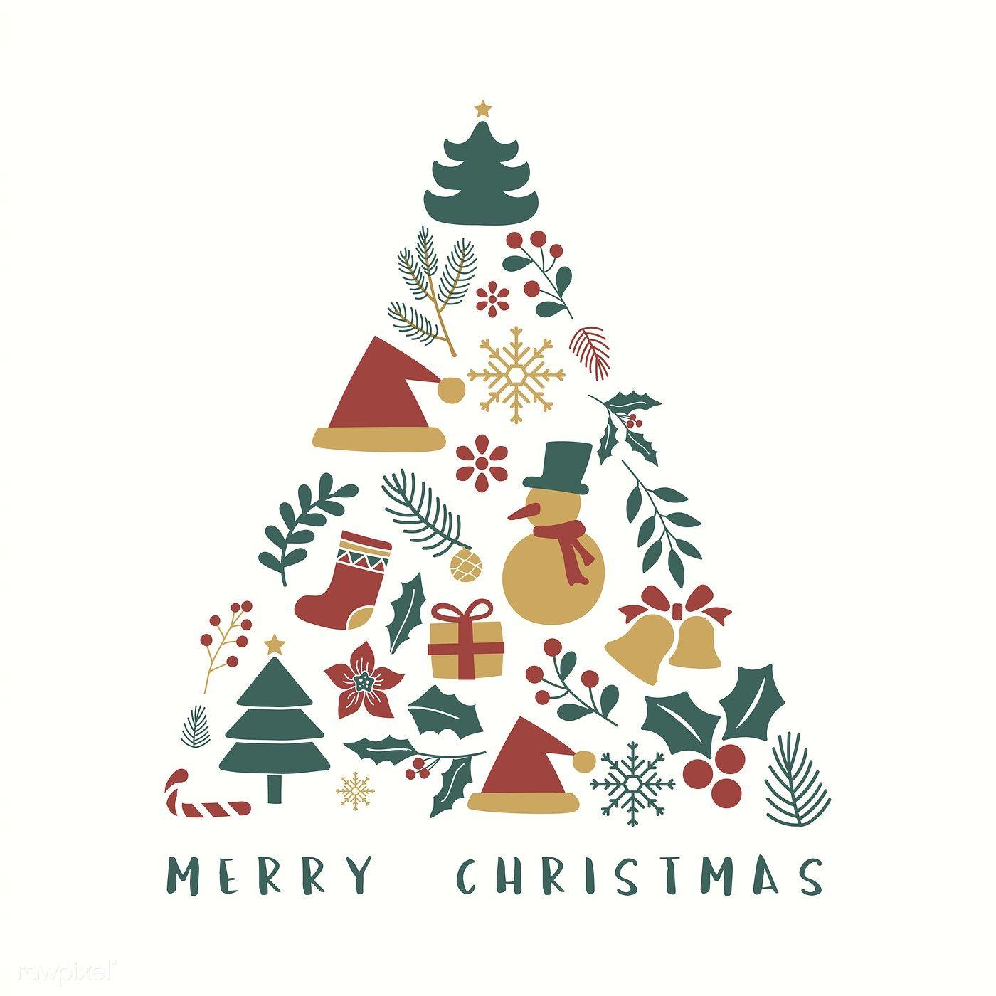 Download Premium Vector Of Illustration Set Of Christmas Decorations 494336 Christmas Illustration Design Christmas Greetings Free Christmas Greetings