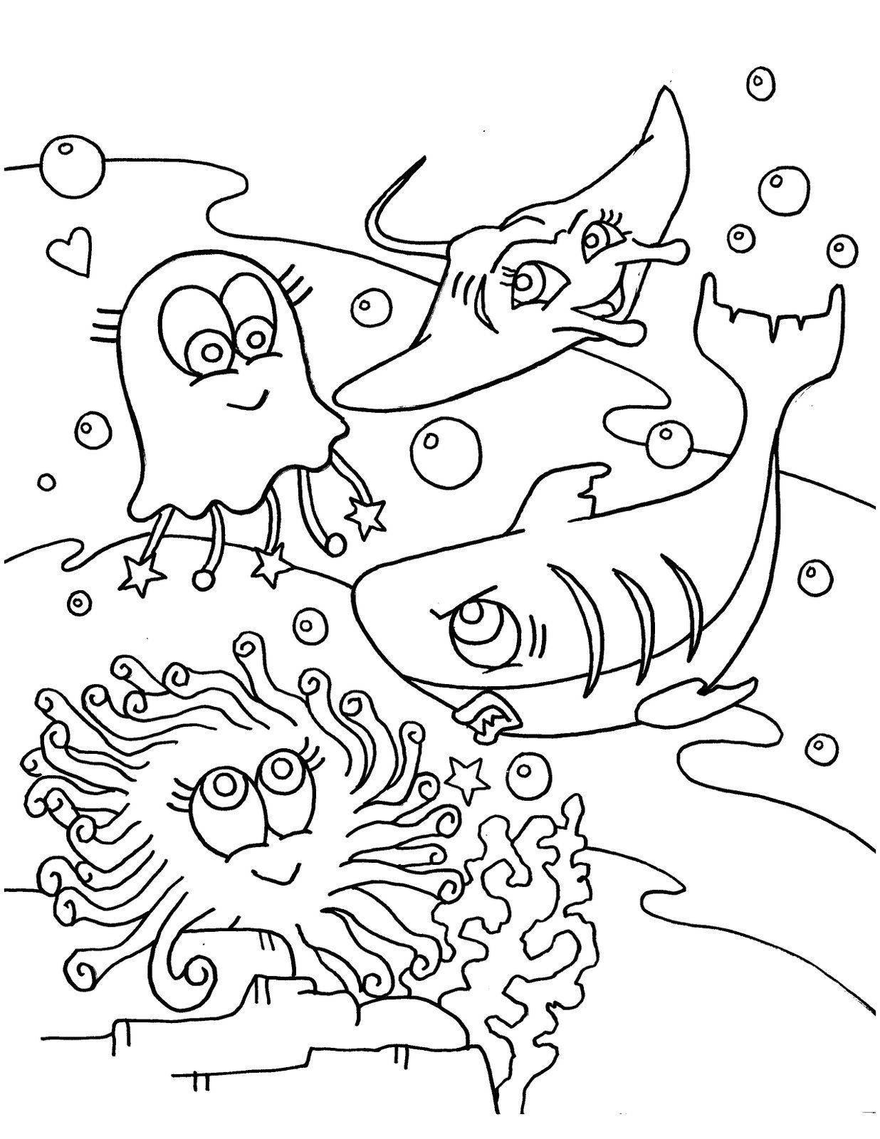 Coloring Pages Under The Sea Ocean Themed Ocean Coloring Pages