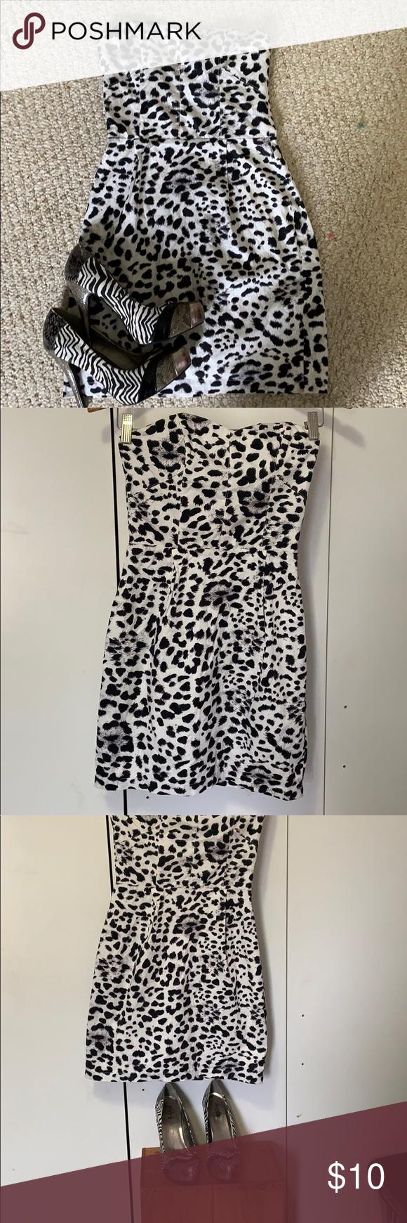 Leopard Print Dress By H M White Leopard Print Dress Made By H M Mini Dress Size 4 No Rips Or Stains Zipper Wor Leopard Print Dress Print Dress Leopard Print [ 1740 x 580 Pixel ]
