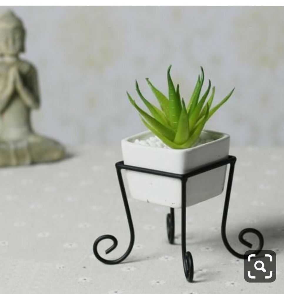 Single Pot Stand Wrought Iron Pot Stand For Home Home Decor
