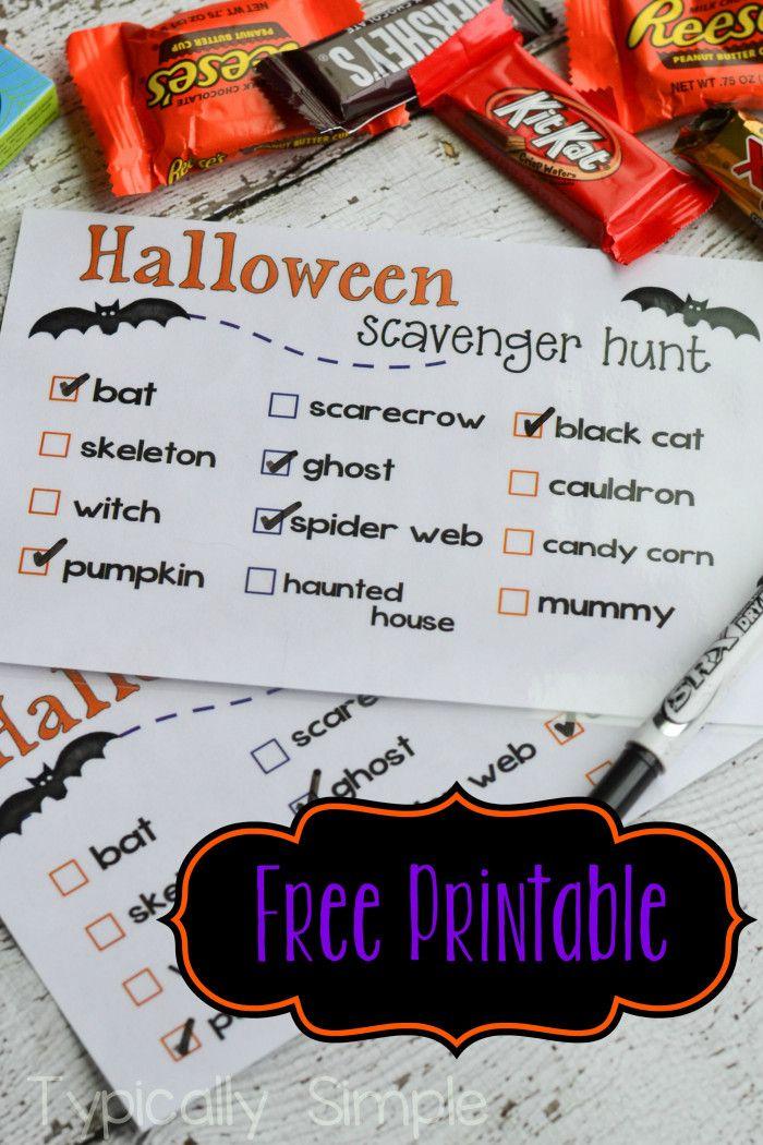 Halloween Scavenger Hunt {Free Printable} Halloween