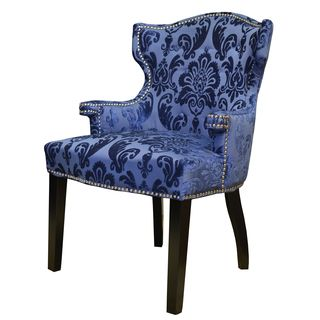 Shop for Navy Fan Damask Brittania Chair. Get free shipping at Overstock.com…