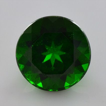 Round shape Little inclusions  3.47 ct 9x9x6.3 mm AAA grade Green Chrome Diopside