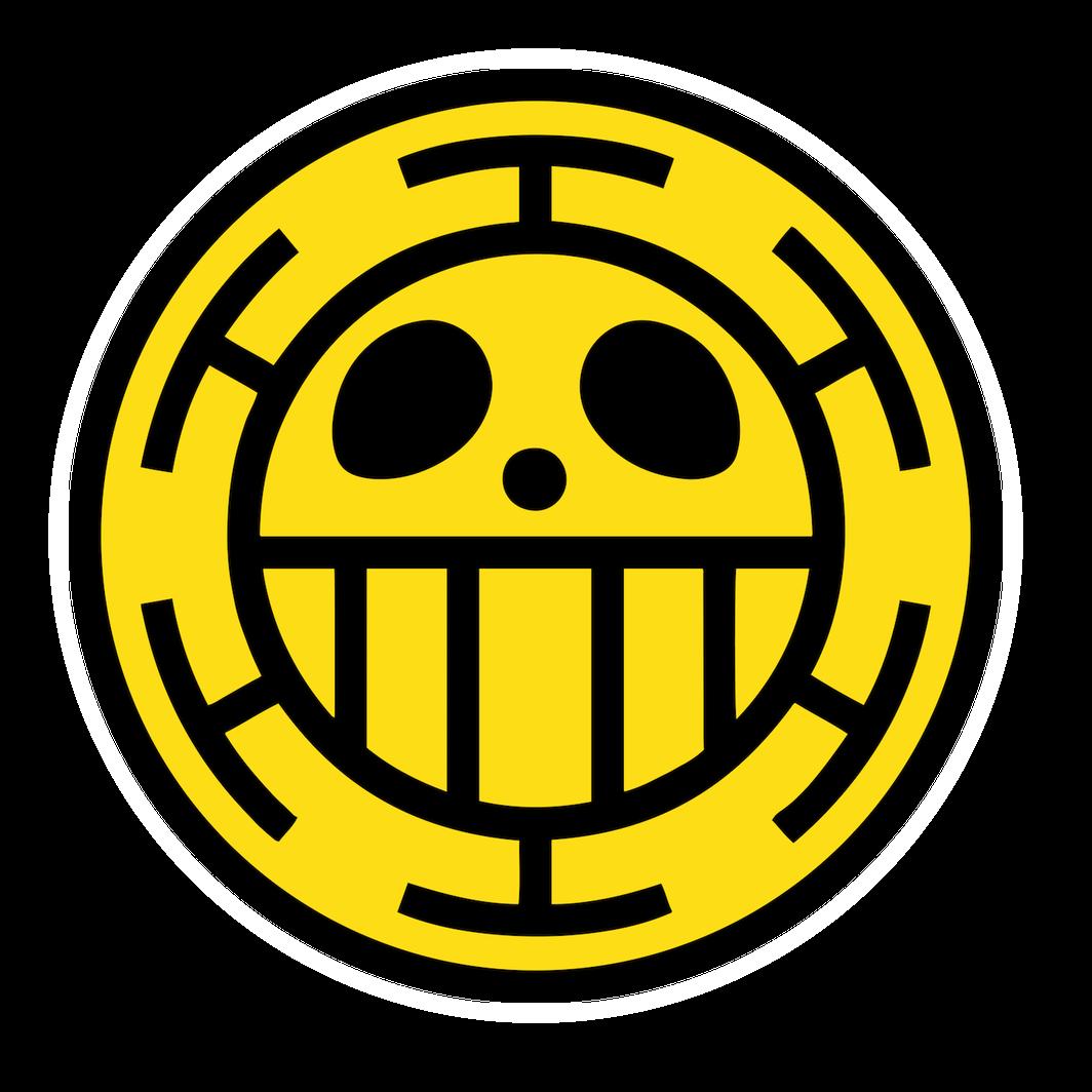 One Piece Heart Pirates Trafalgar Law Sticker Trafalgar Law Trafalgar Luffy