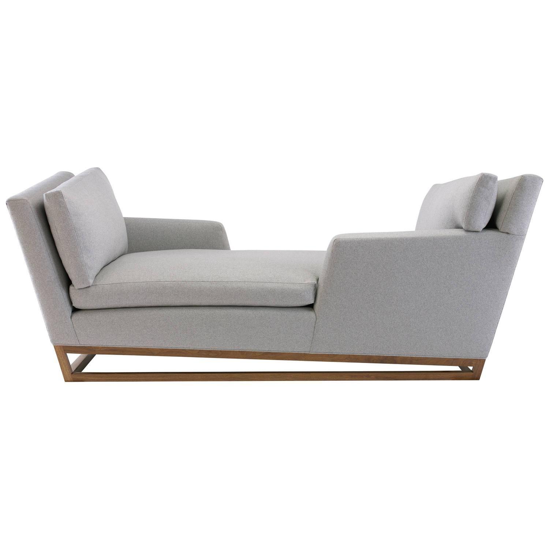 New Contemporary Modern Handmade Tete A Tete Sofa Wool Fabric