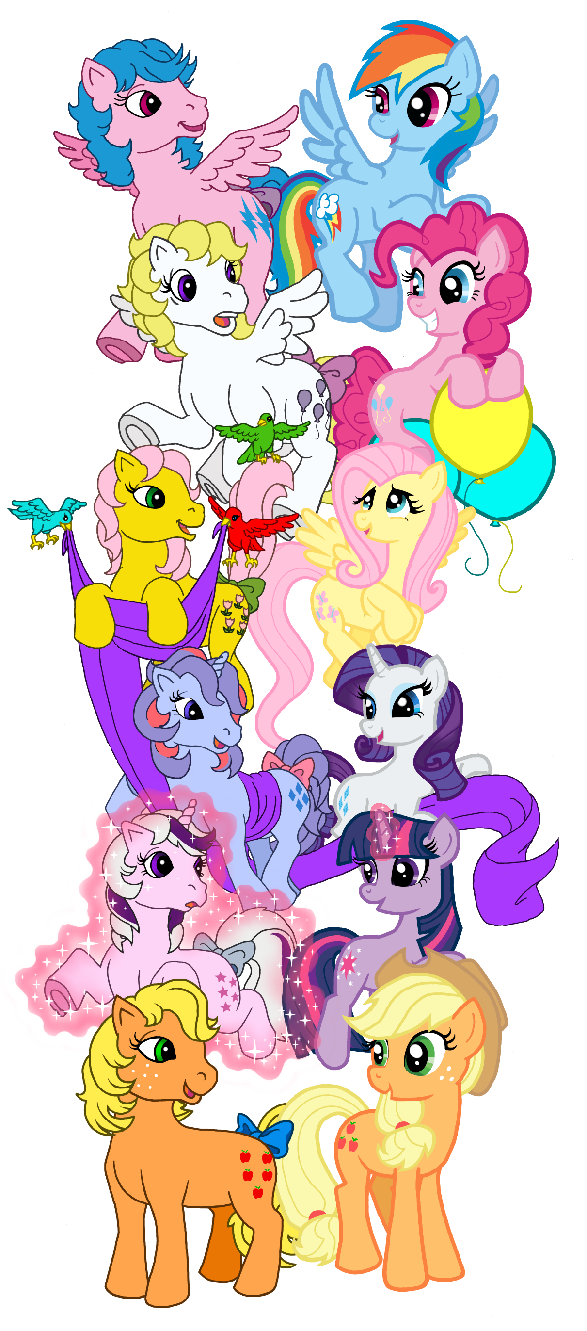 Image pinkie pie and fluttershy flying png my little pony fan -  Firefly Rainbow Dash Suprise Pinkie Pie My Little Pony